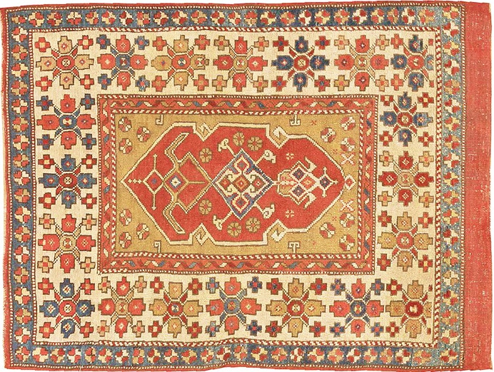 Small Tribal Antique Turkish Bergama Rug by Nazmiyal