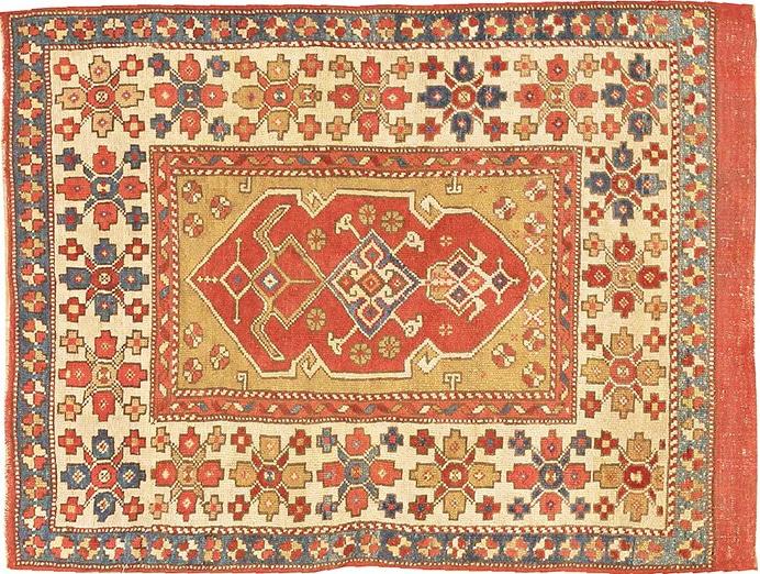 Small Tribal Antique Turkish Bergama Rug by Nazmiyal