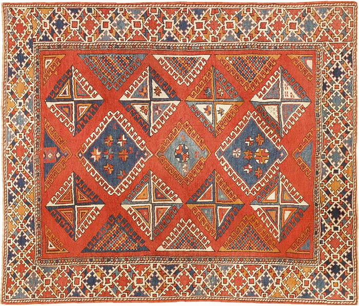 Antique Tribal Turkish Bergama Rug by nazmiyal