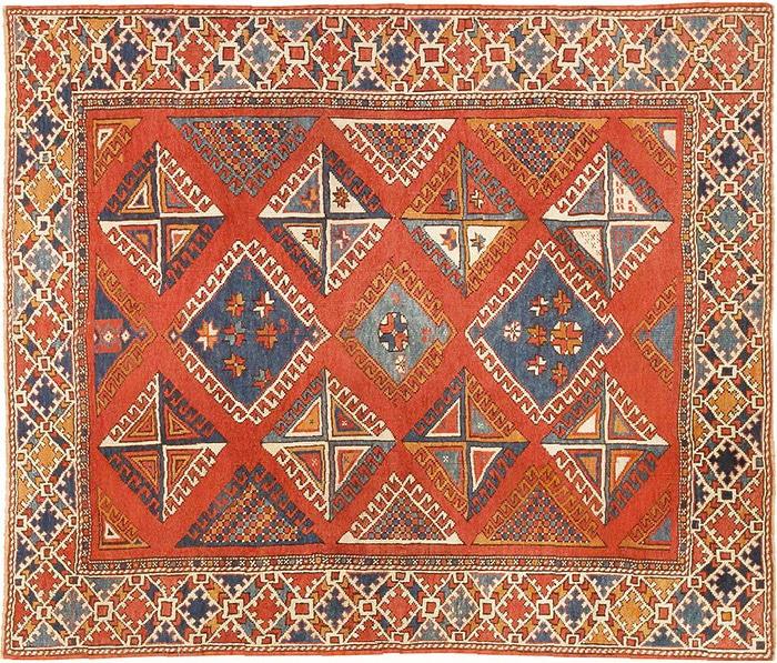 Antique Tribal Turkish Bergama Rug by nazmiyal