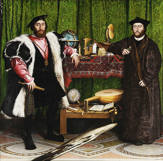 The Ambassadors Painting By Hans Holbein The Younger Nazmiyal