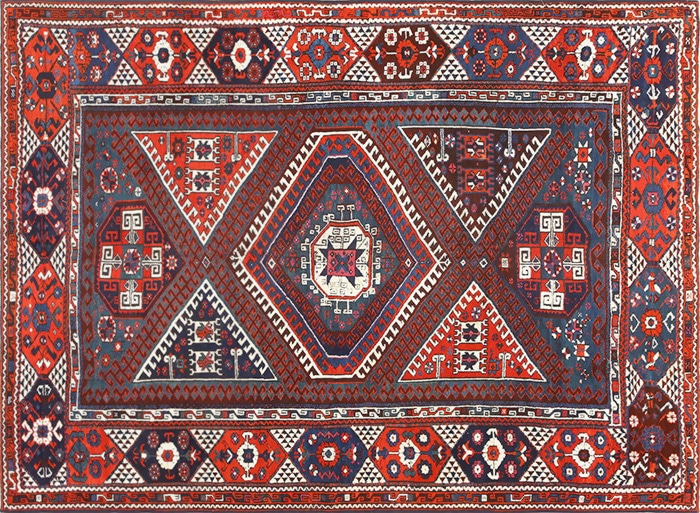 Tribal Antique Turkish Bergama Rug by nazmiyal