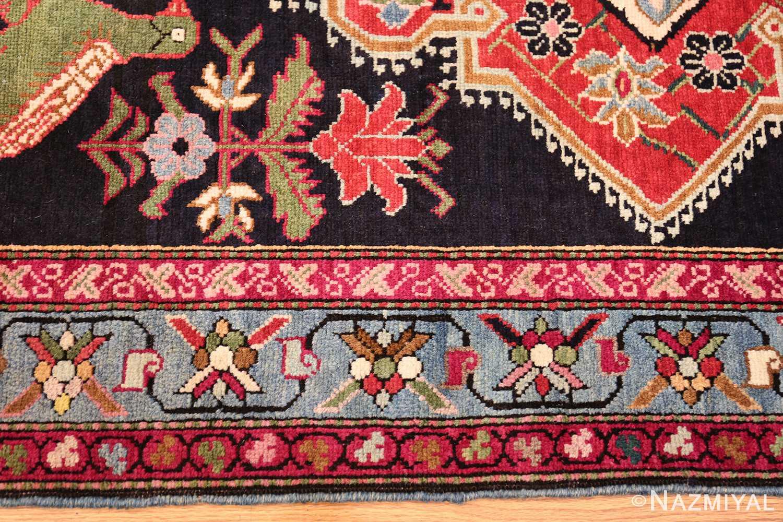 antique black background karabagh caucasian rug 49390 border Nazmiyal