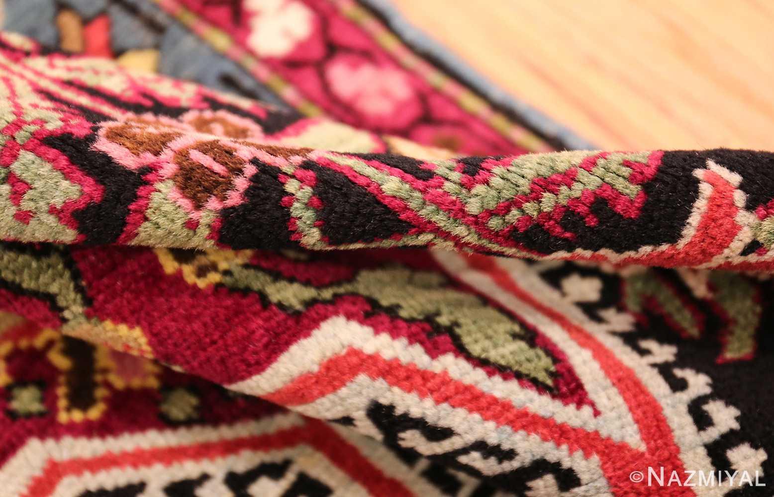 antique black background karabagh caucasian rug 49390 pile Nazmiyal