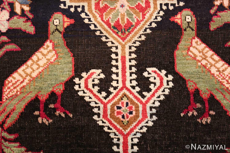 antique black background karabagh caucasian rug 49390 two Nazmiyal