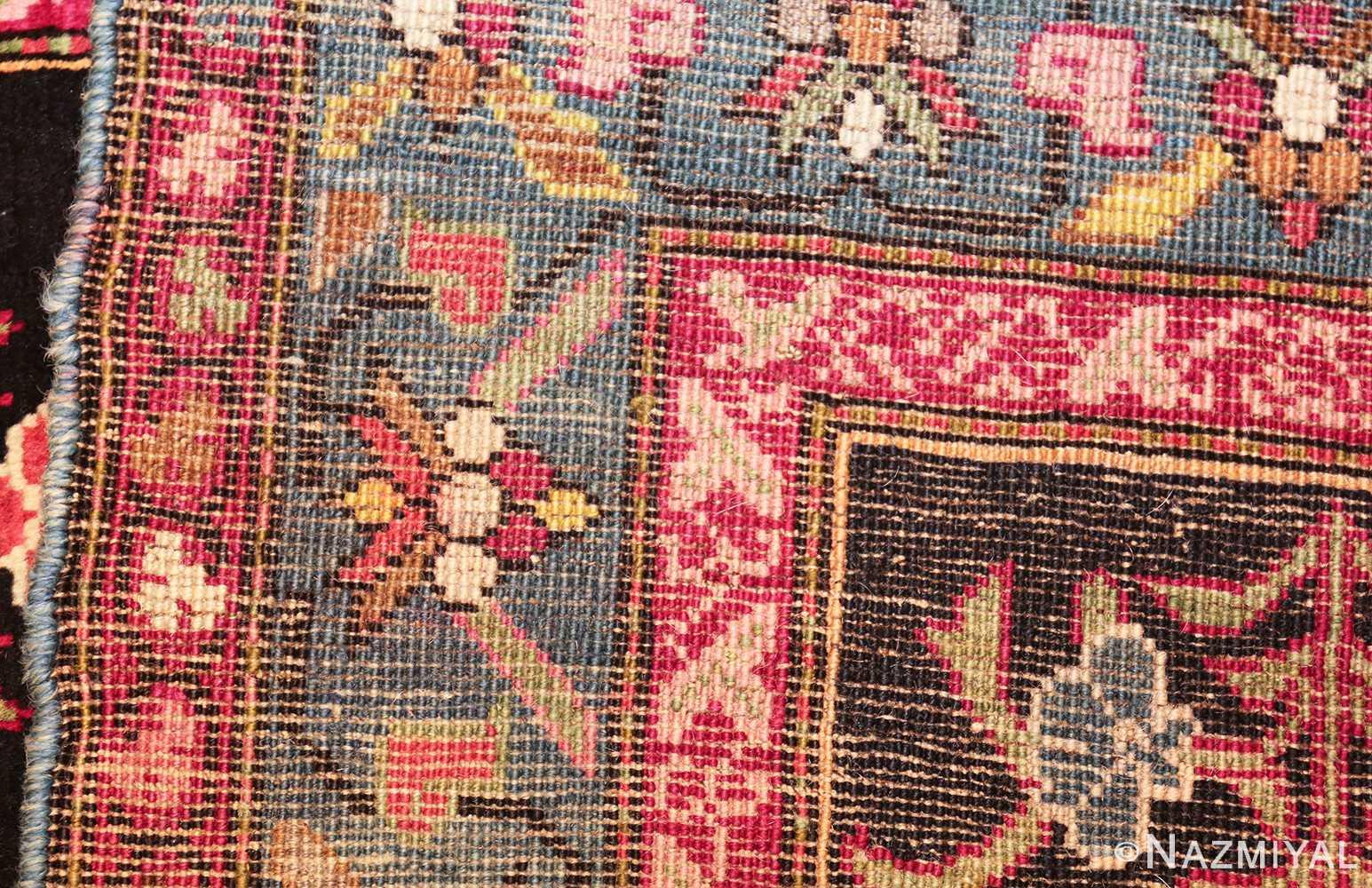 antique black background karabagh caucasian rug 49390 weave Nazmiyal