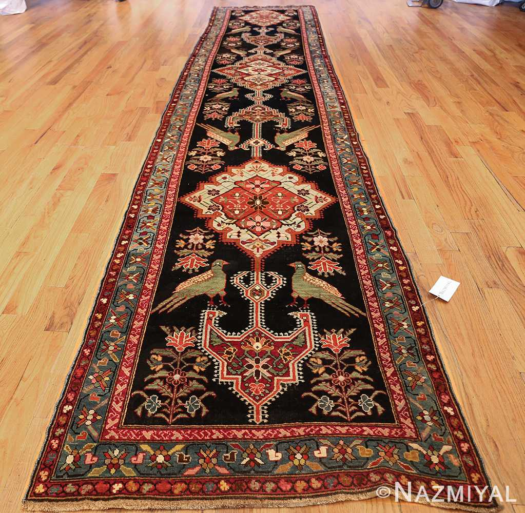 antique black background karabagh caucasian rug 49390 whole Nazmiyal