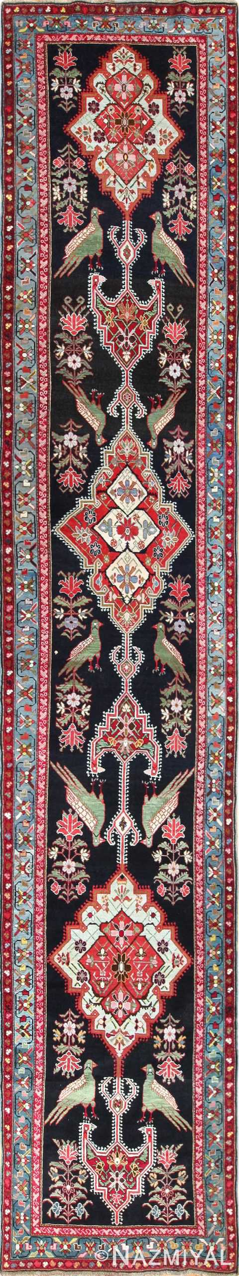 antique black background karabagh caucasian rug 49390 Nazmiyal