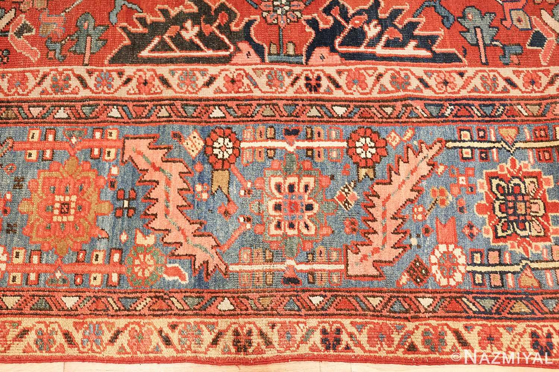 antique oriental room size persian heriz rug 49395 border Nazmiyal