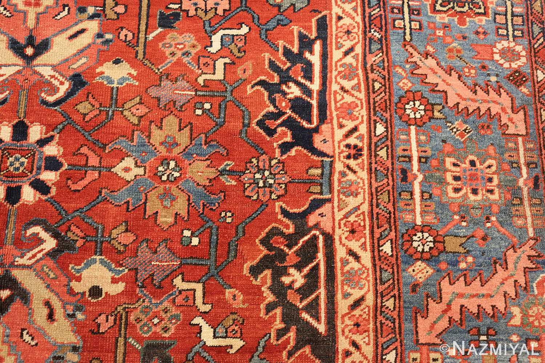 antique oriental room size persian heriz rug 49395 design Nazmiyal