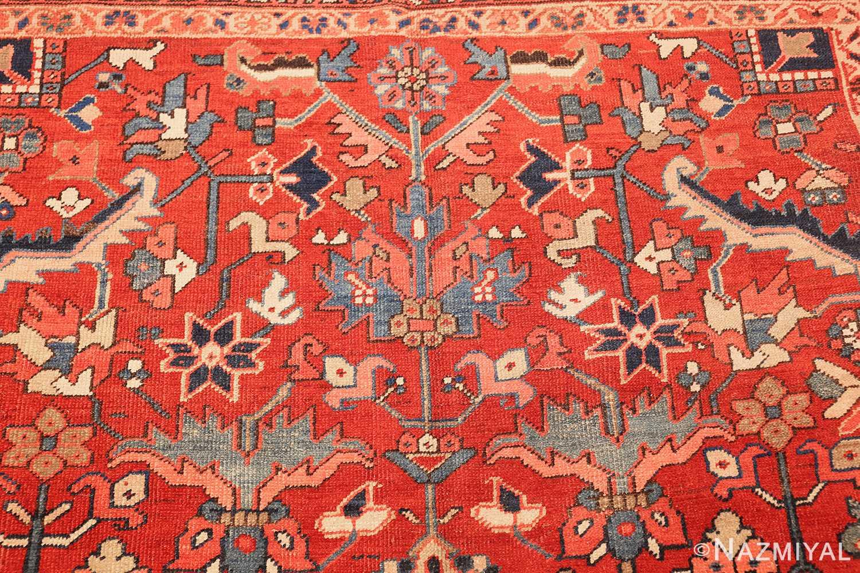 antique oriental room size persian heriz rug 49395 flower Nazmiyal