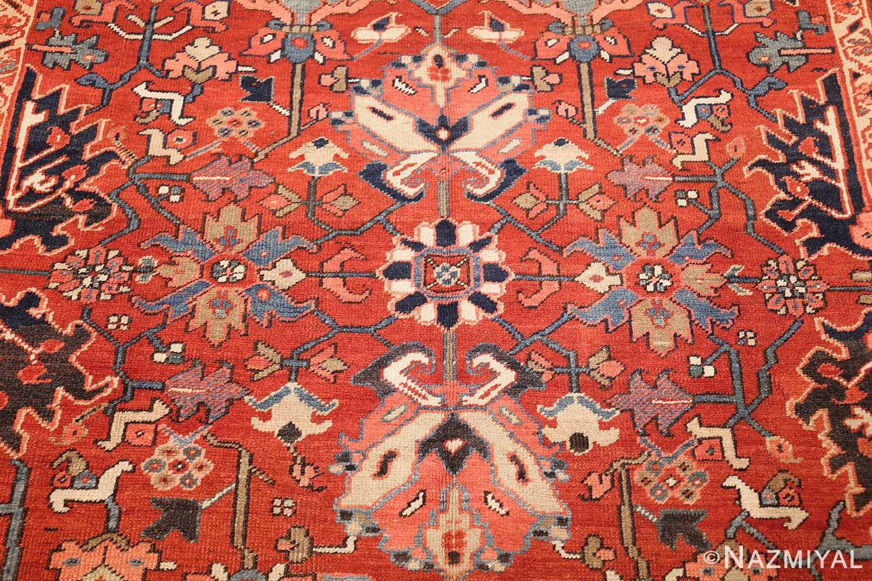 antique oriental room size persian heriz rug 49395 middle Nazmiyal