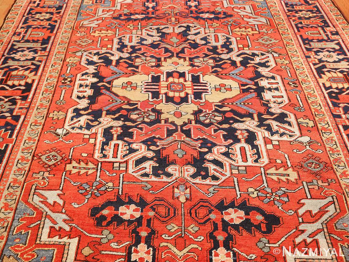 antique red background heriz persian rug 49384 field Nazmiyal