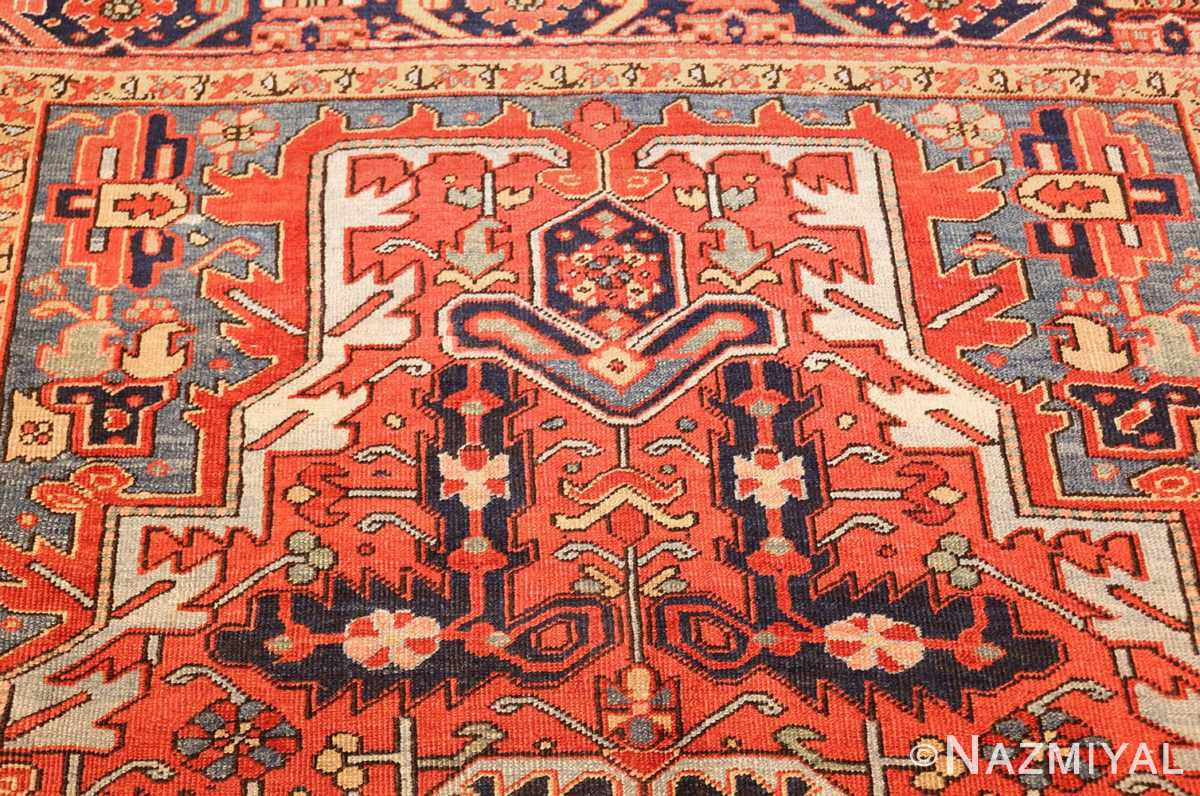 antique red background heriz persian rug 49384 top Nazmiyal