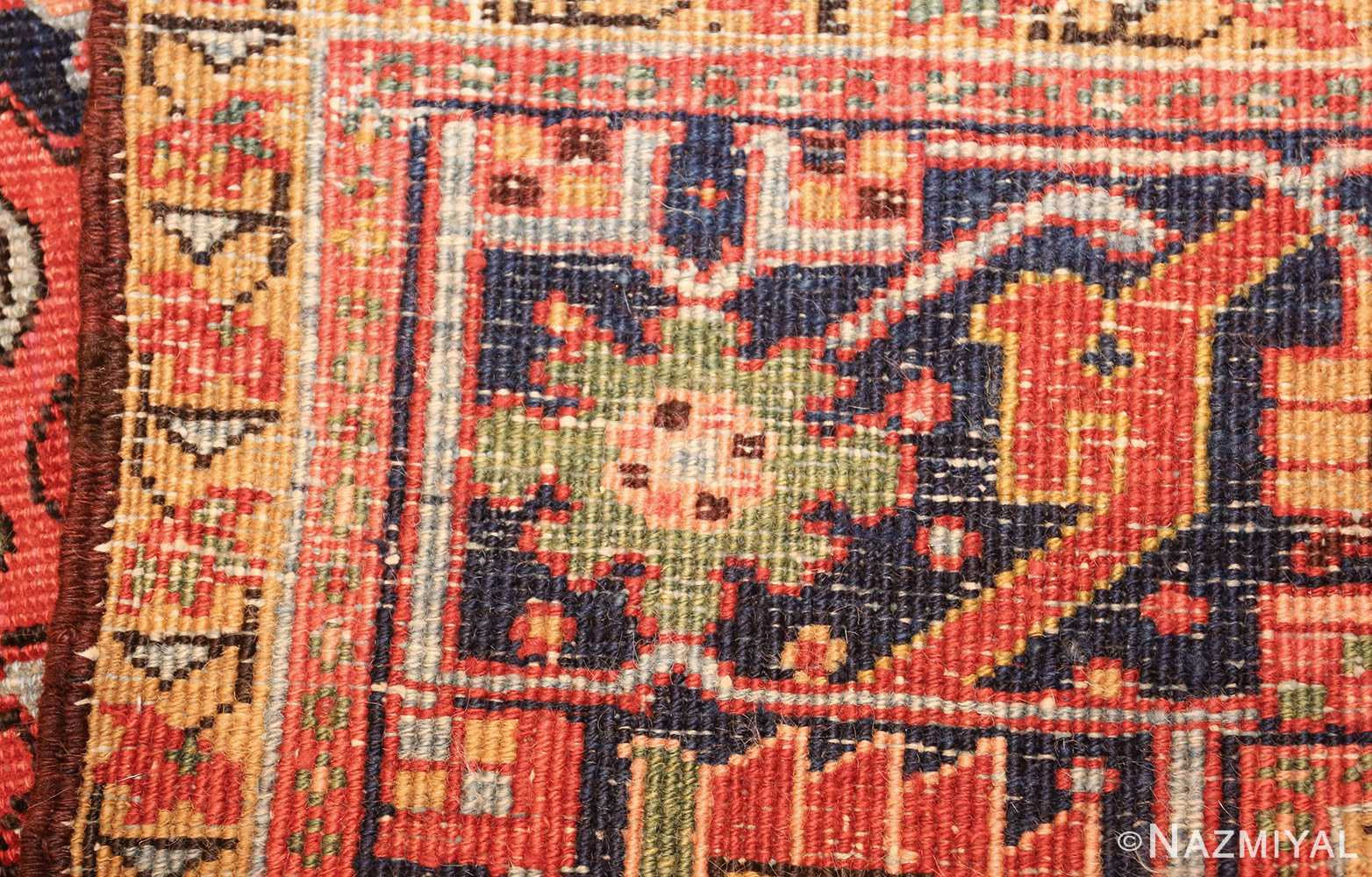 antique red background heriz persian rug 49384 weave Nazmiyal