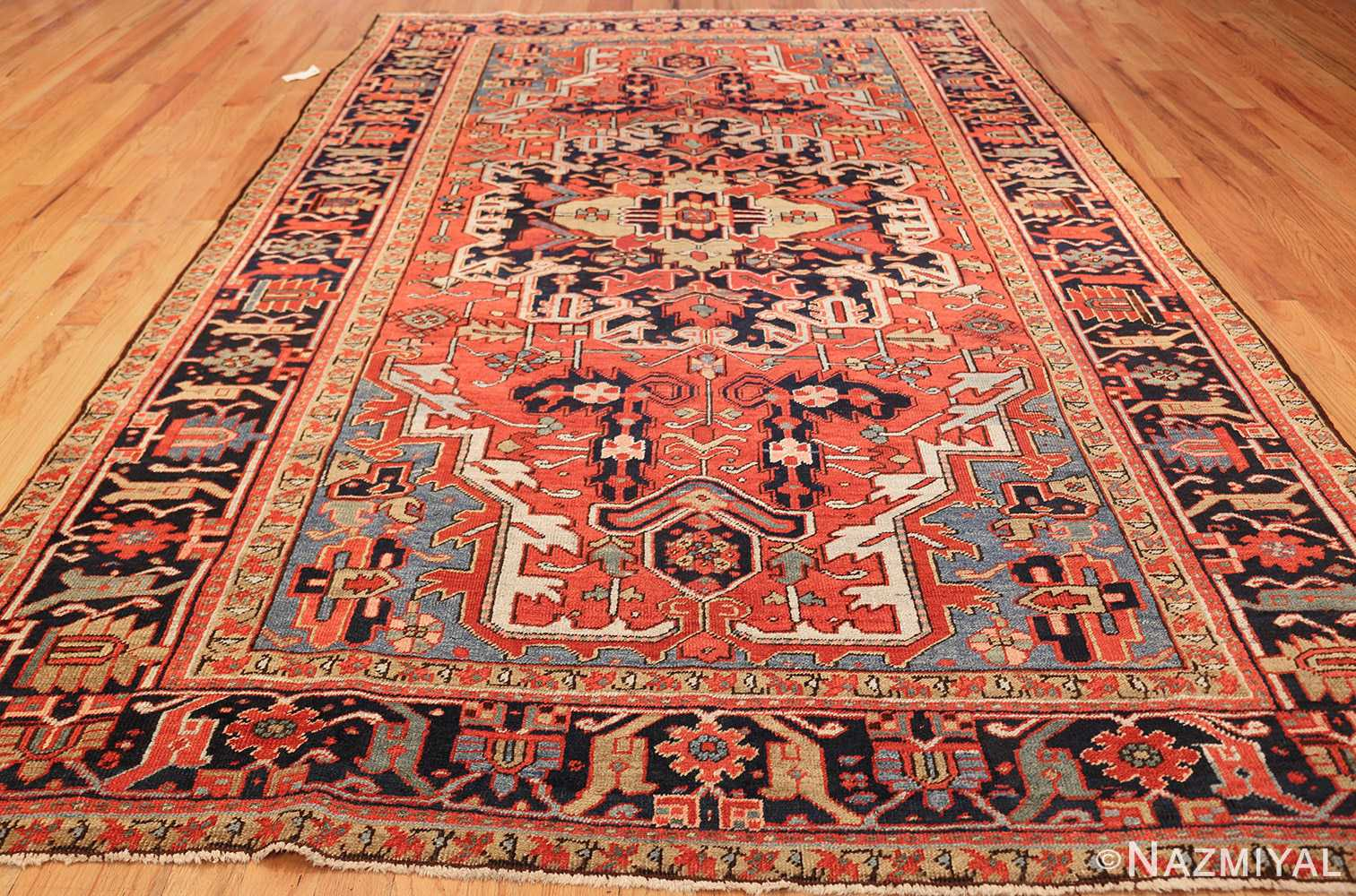antique red background heriz persian rug 49384 whole Nazmiyal