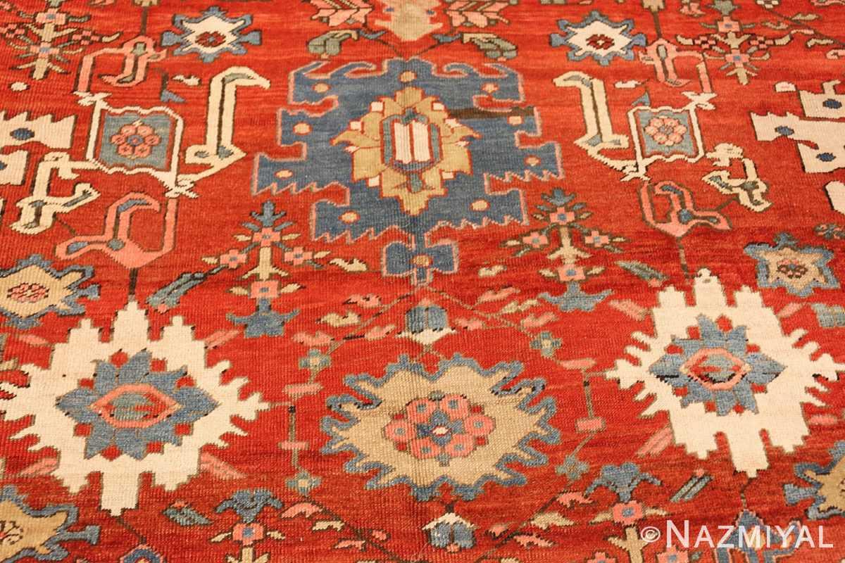 antique red background room size persian bakshaish rug 49393 blue Nazmiyal