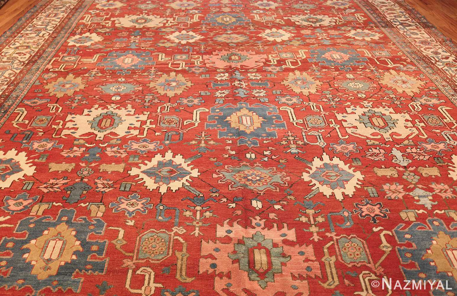 antique red background room size persian bakshaish rug 49393 field Nazmiyal