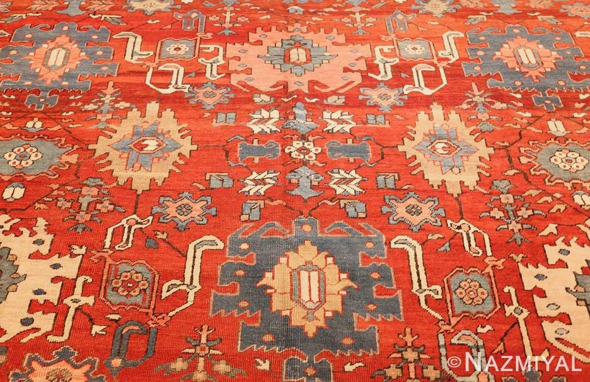 antique red background room size persian bakshaish rug 49393 middle Nazmiyal