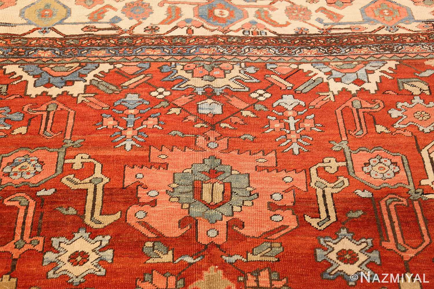 antique red background room size persian bakshaish rug 49393 top Nazmiyal