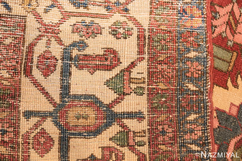 antique red background room size persian bakshaish rug 49393 weave Nazmiyal