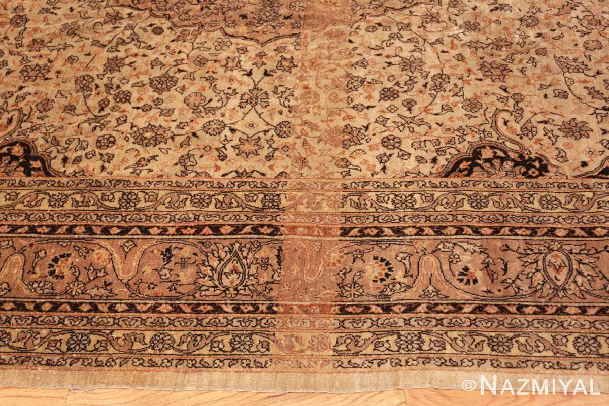 Border Large floral Ivory and gray Antique Turkish Sivas rug 50416 by Nazmiyal