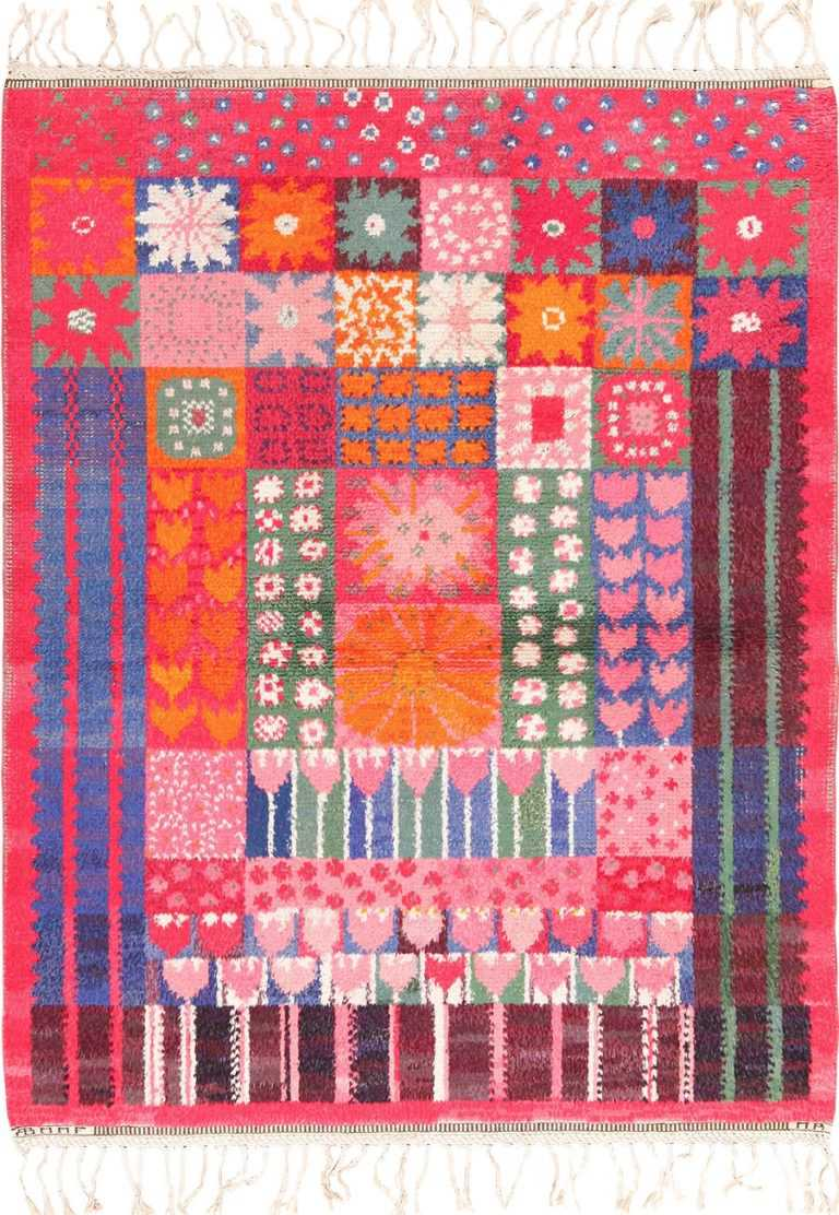 colorful vintage scandinavian rya rug by marianne richter 49438 Nazmiyal