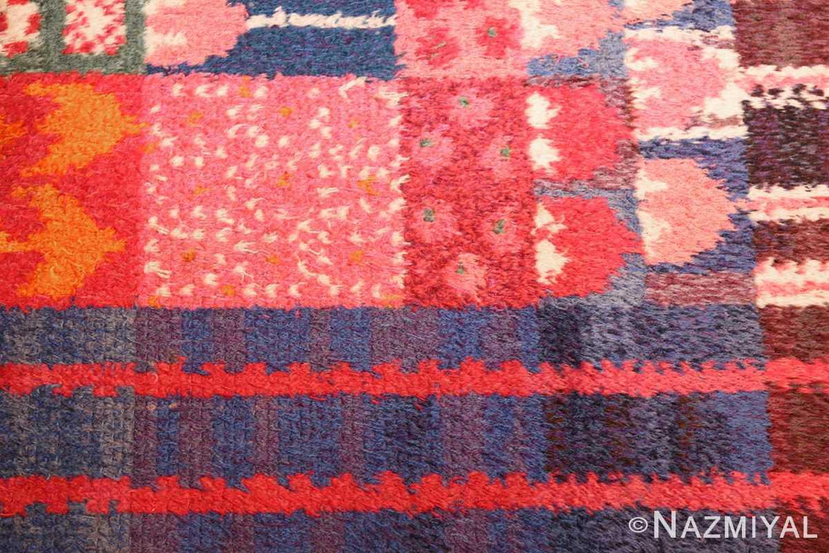 colorful vintage scandinavian rya rug by marianne richter 49438 blue Nazmiyal
