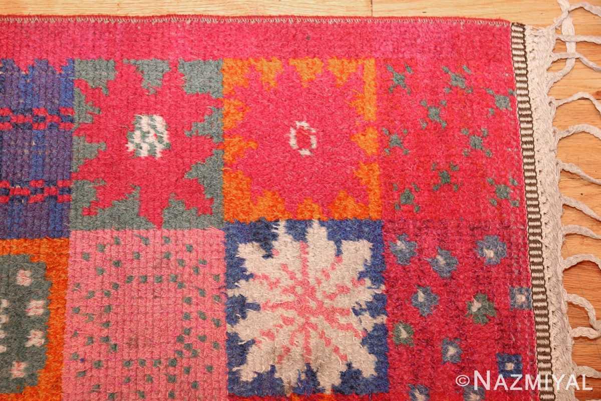 colorful vintage scandinavian rya rug by marianne richter 49438 corner Nazmiyal