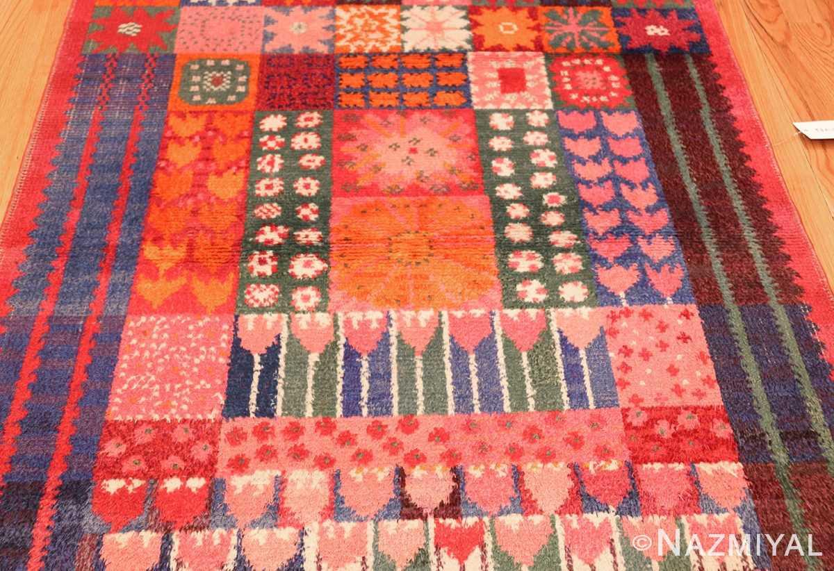 colorful vintage scandinavian rya rug by marianne richter 49438 field Nazmiyal