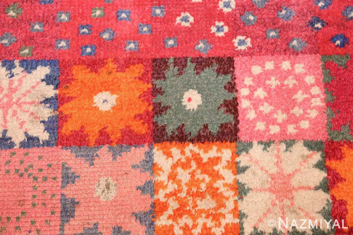 colorful vintage scandinavian rya rug by marianne richter 49438 flowers Nazmiyal