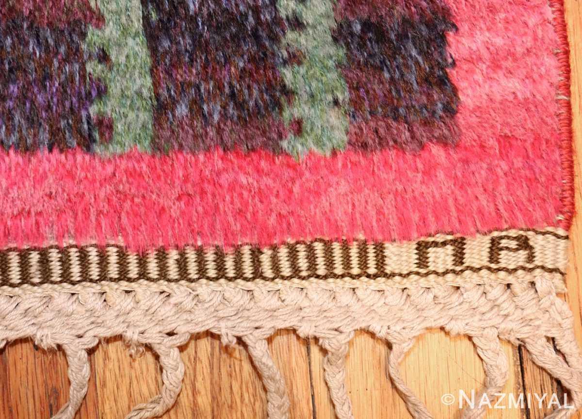 colorful vintage scandinavian rya rug by marianne richter 49438 initials Nazmiyal