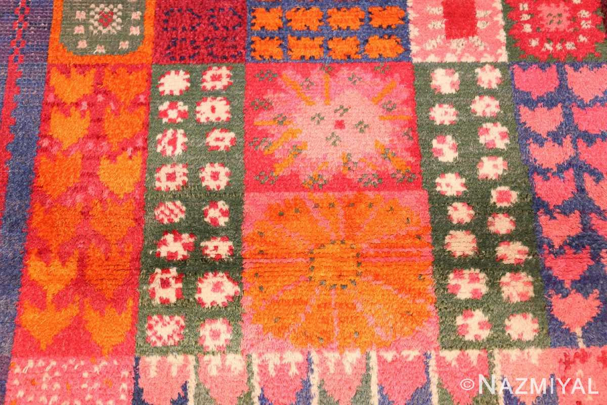 colorful vintage scandinavian rya rug by marianne richter 49438 middle Nazmiyal