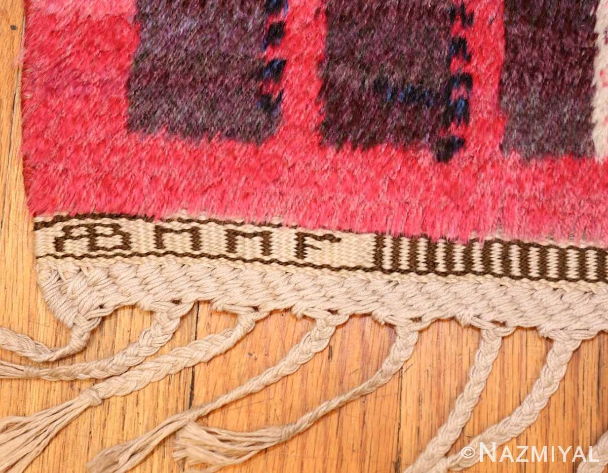 colorful vintage scandinavian rya rug by marianne richter 49438 signature Nazmiyal