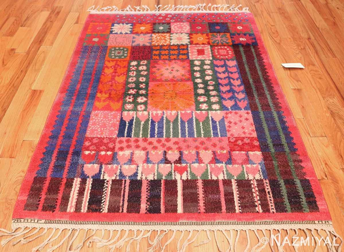 colorful vintage scandinavian rya rug by marianne richter 49438 whole Nazmiyal