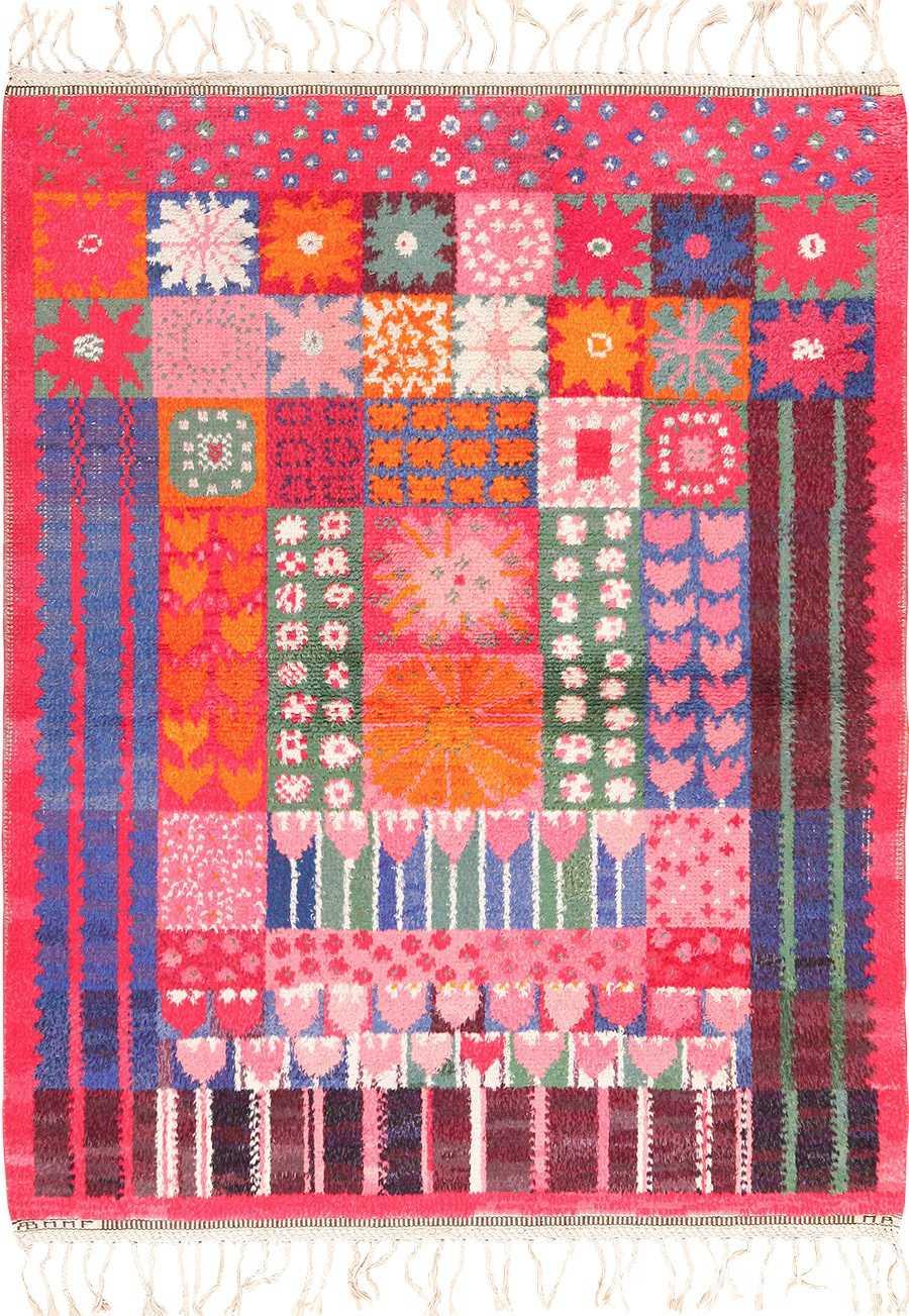 colorful vintage scandinavian rya rug by marianne richter 49438 Nazmiyal