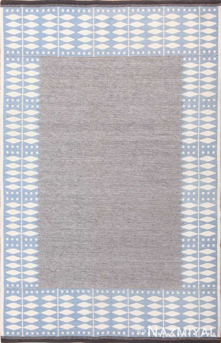 double sided vintage scandinavian kilim rug 49447 Nazmiyal