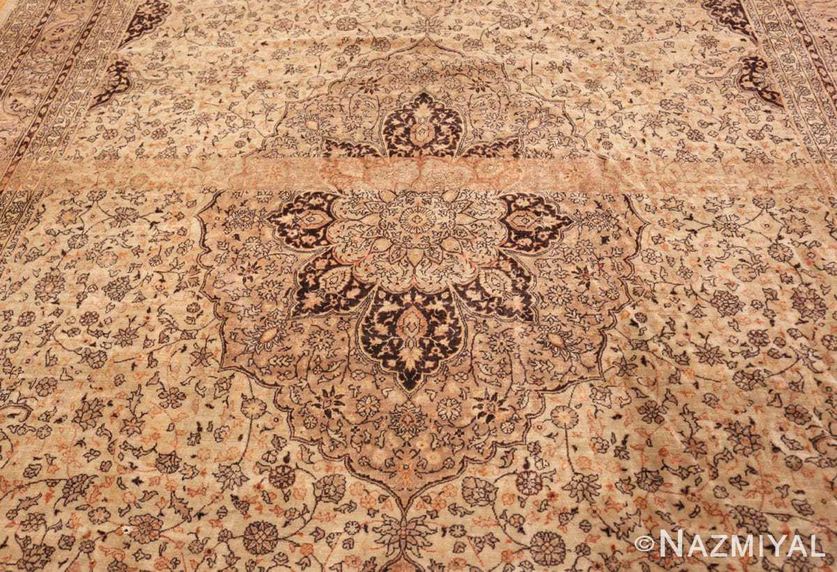 Field Large floral Ivory and gray Antique Turkish Sivas rug 50416 by Nazmiyal