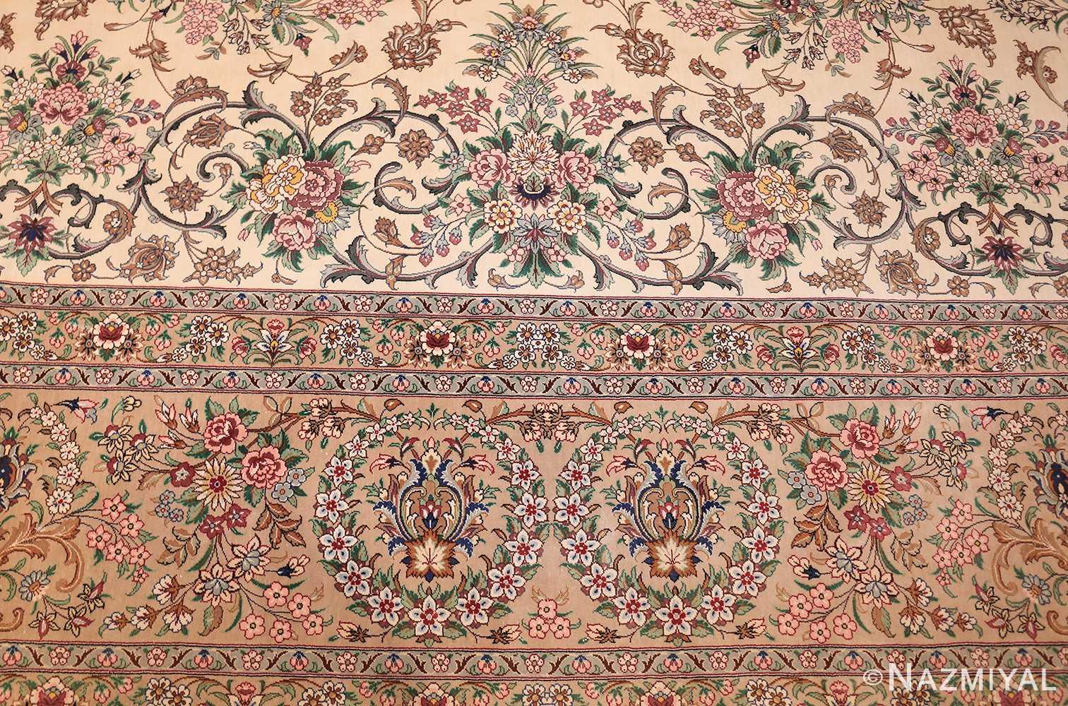fine modern room size persian silk qum rug 49400 top Nazmiyal