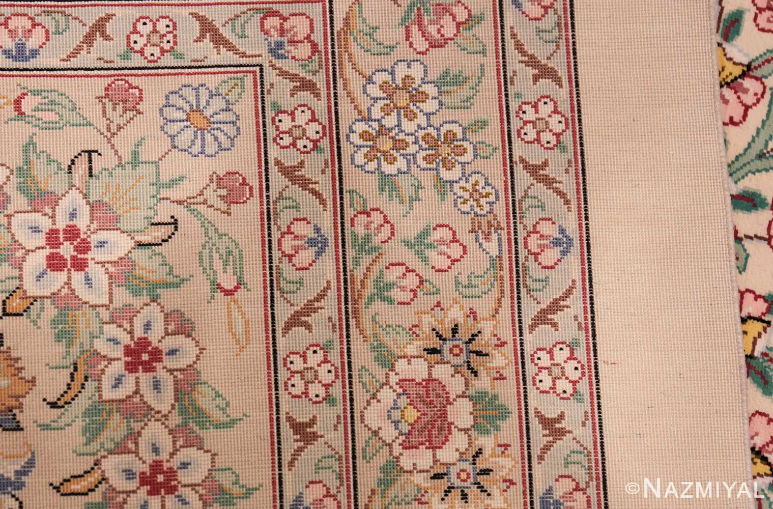 fine modern room size persian silk qum rug 49400 weave Nazmiyal
