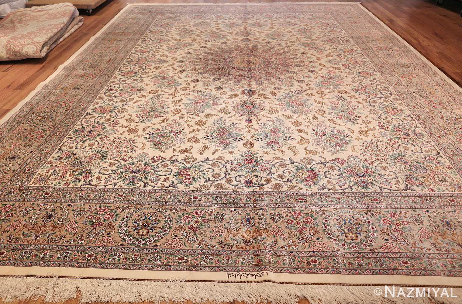 fine modern room size persian silk qum rug 49400 whole Nazmiyal