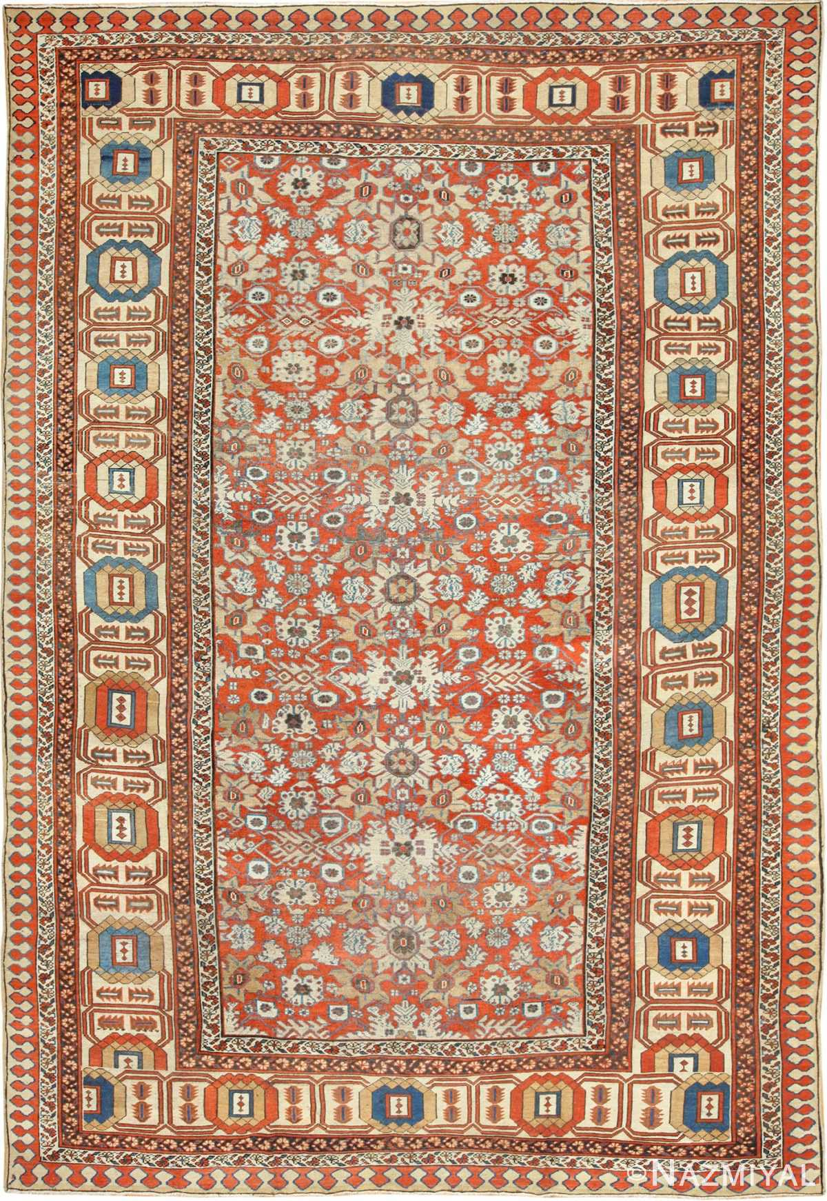 large antique bakshaish persian rug 49394 Nazmiyal