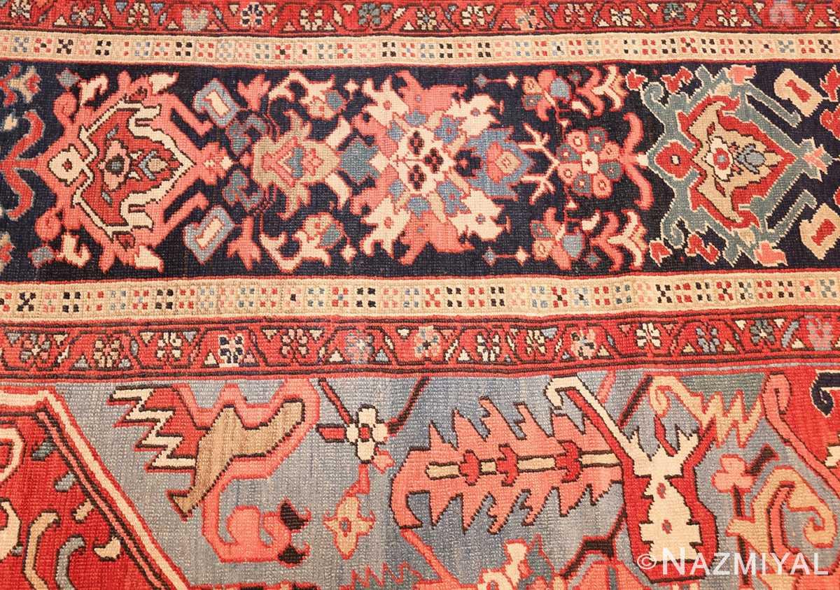 large antique serapi persian rug 49392 border Nazmiyal