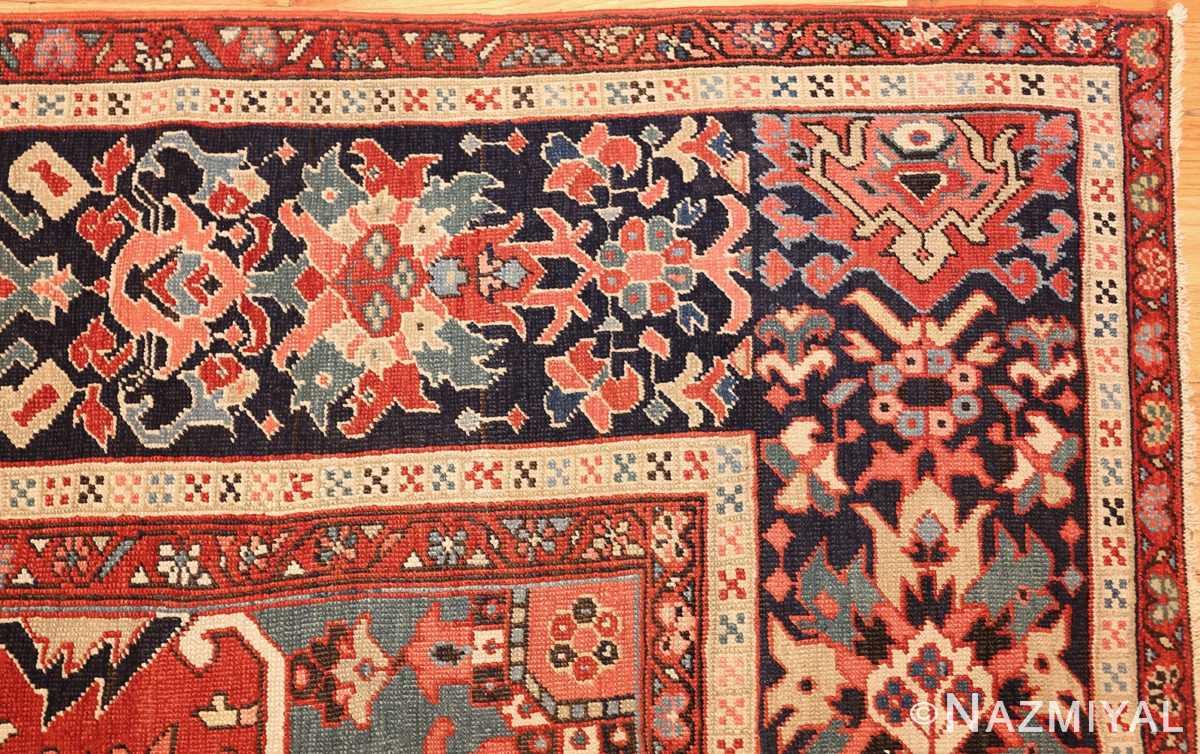 large antique serapi persian rug 49392 corner Nazmiyal