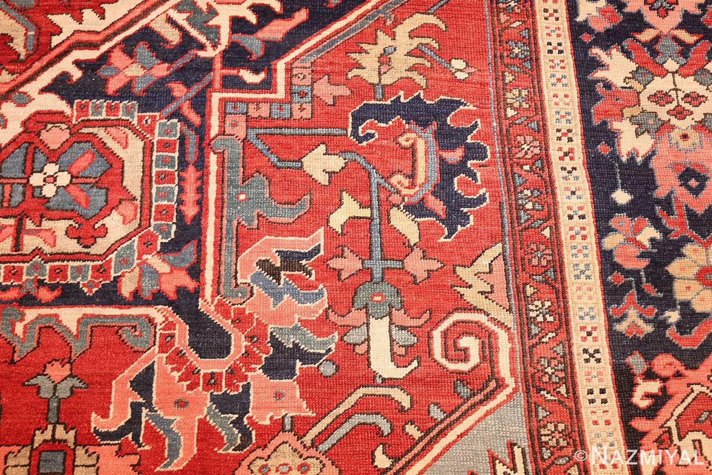 large antique serapi persian rug 49392 pattern Nazmiyal