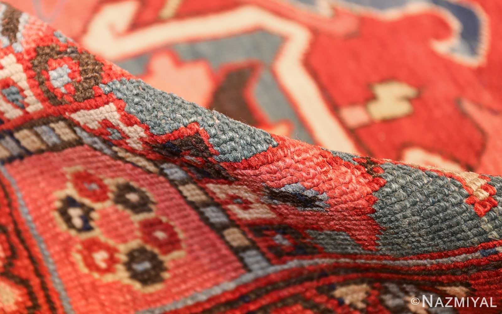 large antique serapi persian rug 49392 pile Nazmiyal