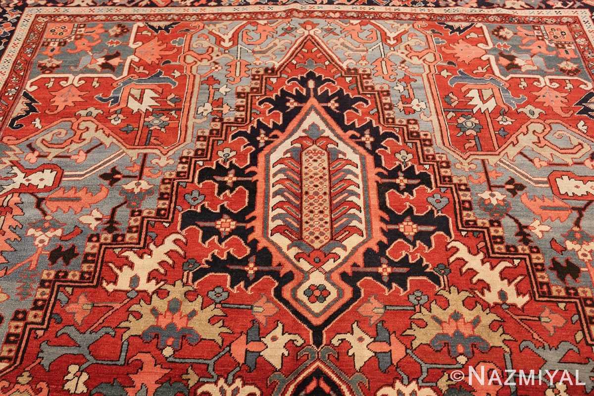 large antique serapi persian rug 49392 top Nazmiyal