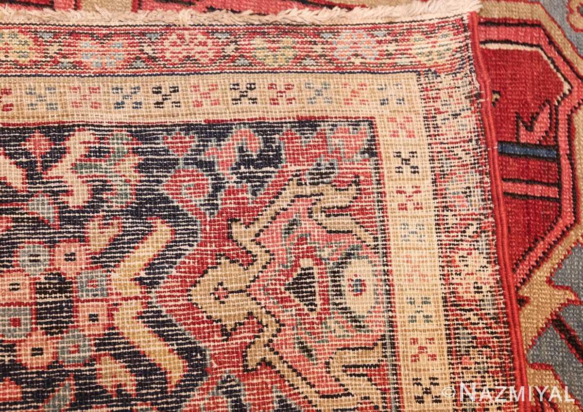 large antique serapi persian rug 49392 weave Nazmiyal