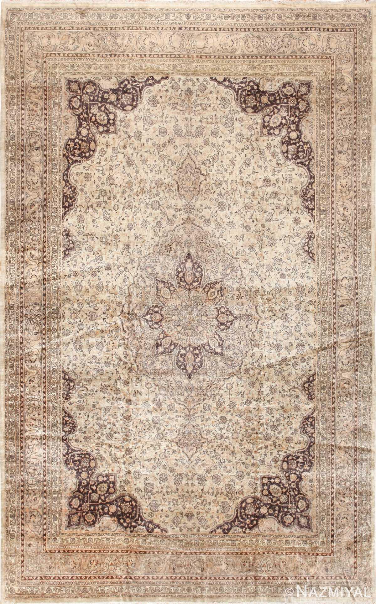 large ivory antique sivas turkish rug 50416 Nazmiyal