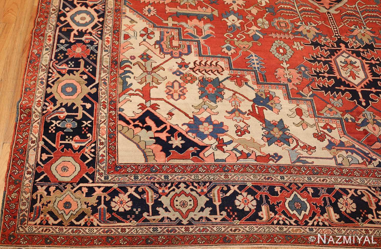 large oriental antique persian heriz serapi rug 49397 corner Nazmiyal